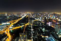 The highest Aerial view of Bangkok Highway at Dusk in Thailand (unseenesan at mahasarakham) Tags: city nature night asian dawn traffic bangkok lightx angelsx roadx officex siamx cityx streetx capitalx waterx towerx photographyx beautifulx lightsx nightx viewx reflectionx sceneryx motionx travelx templex landscapex buildingx carsx businessx highx structurex backgroundx darkx twilightx apartmentx worldx bangkokx thailandx asiax cityscapex highrisex downtownx modernx citiesx eveningx landmarkx scenicx skylinex townx nighttimex tourismx infrastructurex transportationx skyscraperx corporatex panoramicx technologyx illuminationx highlightx metropolitanx viewpointx metropolisx