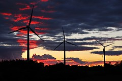 Wind Mills past Sunset (DSH_3711) (masinka) Tags: show light sunset red wild color windmill colors clouds landscape twilight buffalo power alternativeenergy upstatenewyork dramaticsky naturalwonder turbine westernnewyork dramaticclouds wildsunset heavyclouds skycolors buffaloniagara redban naturelshow