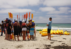 Kayaking song - 4. Lessons on the ground (shirley_turner) Tags: summer beach kayak sandiego lajolla tourists pacificocean kayaking vacations