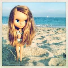 Renée à la plage