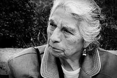 ... (Ivn Adrin) Tags: portrait oldwoman candidshot blackwhitephotos