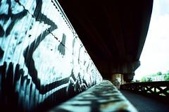 Graffiti Bridge (Cloni) Tags: film lomo lca xpro lomography crossprocessed birmingham crossprocessing xprocessing analouge
