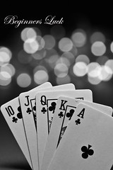 Beginners Luck (Serena178) Tags: playing cards bokeh poker luck clubs straight thursday beginners