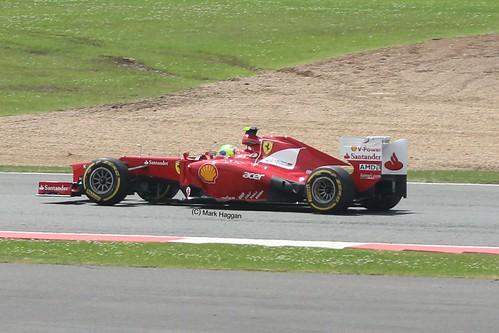 Felipe Massa in his Ferrari F1 car at Silverstone