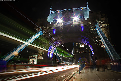 Traffic Over Tower Bridge - London 2012