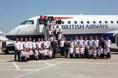 Team GB Swimmers arrive at London City Airport (London City Airport, LCY (official)) Tags: londoncity cityairport londoncityairportlcy teamgbswimmers