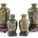 313. Group of Cloisonne Cabinet Vases