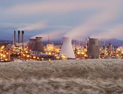 EARTH,WIND AND FIRE (kenny barker) Tags: landscape lumix dawn wheat refinery grangemouth landscapeuk panasoniclumixgf1 welcomeuk kennybarker