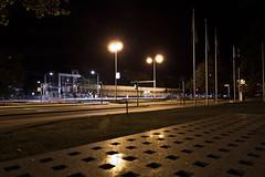 movement @ night (Mark Kerkhoff; Vagrant Photography) Tags: street camera longexposure night canon photography movement view flag den tram denhaag tokina nightlight haag thehague straat koningskade