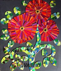 Poppies (Leena Nio) Tags: flower glass mosaics poppies mosaique kukka unikko mosaiikki