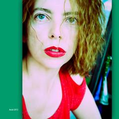 Lipstick portrait (NathalieSt) Tags: portrait woman femme rougeàlèvres lipstick red rouge nathalie