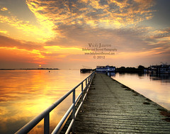 Captree Pier Sunrise (Babylon and Beyond Photography) Tags: sky water clouds sunrise island golden bay pier amazing dock long south great dramatic babylon hdr mfcc captree