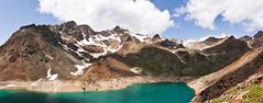 Gruensee (mattinho2704) Tags: italien schnee italy lake snow mountains clouds see nikon berge südtirol wanderung southtirol d300 grünsee 5photosaday ultental