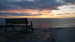Sunset  (explored) (Gio Marchese) Tags: ocean light sunset sea last bench lens island four lumix islands peace view g horizon 14 kitlens august panasonic explore micro jersey pace g2 kit 12 sark 06 alderney guernsey luce channel dmc 6th 08 2012 thirds herm m43 fourthirds 42mm marchese explored 1442mm platinumheartaward microfourthirds m43rds mygearandme mygearandmepremium dmcg2 m43ds photographyforrecreationeliteclub
