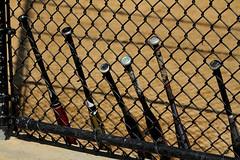 Softball Bats (Gwenaël Piaser) Tags: newyork new york america amérique usa etatsunis unlimitedphotos gwenaelpiaser canon eos 7d canoneos eos7d canoneos7d july 2012 85mm 85mmf18 canonef85mmf18usm ef85mmf18usm batte bâtons baseball softball bats manhattan city ville
