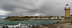 Stormy Portpatrick Panorama (Jani Helle) Tags: panorama lighthouse scotland harbour portpatrick southpier dumfriesandgalloway oldlighthouse portpatrickharbour portphdraig september2011 portpatrickpanorama