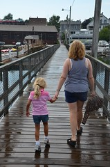 On The Footbridge In Boothbay Harbor (Joe Shlabotnik) Tags: maine violet sue 2012 boothbay faved boothbayharbor proudparents july2012