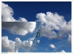 Blue Sky Thinking (peterphotographic) Tags: city uk blue cloud reflection london sport britain bluesky olympics bp olympicpark stratford eastlondon olympicgames englnad london2012 londonolympics fuellingthefuture canong12 img9419edwm