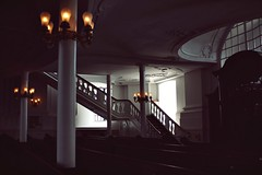 Michel (ms holmes) Tags: lighting church stairs lights interior hamburg columns iglesia kirche innen treppe inside lamps michel glise lichter lampen sulen stmichaelis canoneos1000d