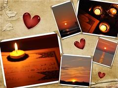‷ iκrα ‷ (gLySuNfLoWeR) Tags: sunset collage candle heart islam nor quran kadir ikra qadr