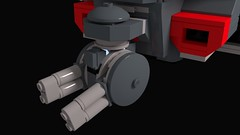 Ball Turret (HJ Media Studios) Tags: brick digital computer toy soldier 3d fight cg model war fighter ship lego render space air alien cartoon battle corps planet scifi animation vehicle blender marines spaceship block minifig starship cgi gunship minifigure dropship