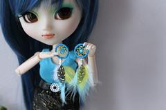 ♥ Commission ♥ (. Paillette .) Tags: diy handmade sd bjd pullip earrings commission doreilles abjd dreamcatcher boucles msd bouclesdoreilles faitmain surmesure attraperêve