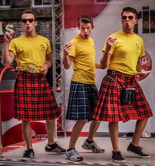 Kilted Performers from Fringe Show 'Departure Lounge' (FotoFling Scotland) Tags: scotland edinburgh kilt fringe royalmile
