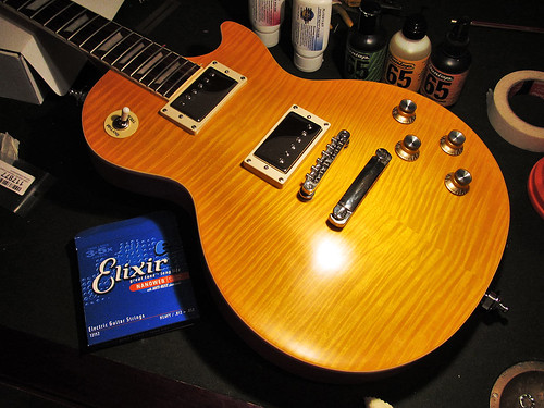 Epiphone Les Paul after dull finish mod