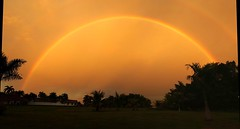 Sunset time in Paramaribo (2mag7- non-stop catching up!) Tags: sunset red sky southamerica rain rainbow suriname paramaribo