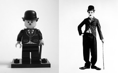 LEGO Charlie Chaplin (KadasBence) Tags: new bw white black film movie star cool silent lego awesome 8 wip fresh cm charlie series custom celeb collectable chaplin moc minifures