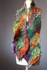Nuno Felted scarf Wool silk whimsical Orange Green Purple Brown textured nunofelting by VitalTemptation (VitalTemptation , Etsy) Tags: wool felted scarf for felting silk chiffon wrap felt merino her gift shawl silkscarf etsy fiberart wavy nuno wetfelting scaf feltscarf nunofelt nunofelting feltedscarf voilok scarfhandmade silkcharmeuse nunofeltedscarf vitaltemptation scarfsilkwool uniquefiber
