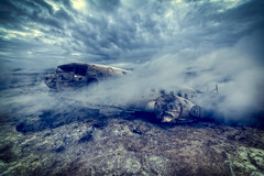 A Secret History (murphyz) Tags: abandoned composite clouds plane photography iceland crash dramatic steam hidden sulphur wreck derelict wreckage murphyz