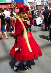 Hyper Japan 2016 4 (Terterian - A million+ views, thanks.) Tags: kensington london capital city uk olympia victorian exhibition centre venue hyper japan 2016 july japanese nippon nipponese culture pastel childlike innocent costume tradition festival art music martial pretty beautiful sexy lolita lollita girls female woman attractive happy smile alternative fashion fashionable models red bashful rero vintage blonde rose