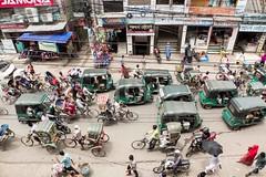 H504_3500 (bandashing) Tags: traffic transport street rickshaw cng tuktuk motorbike bike bicycle people walk ride passengers shops jam chaos sylhet manchester england bangladesh bandashing aoa socialdocumentary akhtarowaisahmed