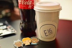 coffee time (coffeebucks) Tags: coffee cocacola coke e16 starwarspin pins starwars starwarscelebration starwarscelebrationeurope swce londonexcel londonexcelcentre starwarscelebration2016 starwars2016