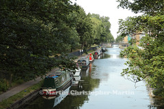 Hertford Union Canal (martin christopher-martin) Tags: trees canal bow mileend waterways eastlondon barges grandunion hertfordunion