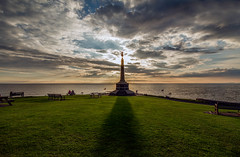 In Memoriam (andy p m) Tags: aberystwyth aberystwythwarmemorial britishseaside wales clouds coastal outdoors sea seaside shadows sky sunset warmemorial