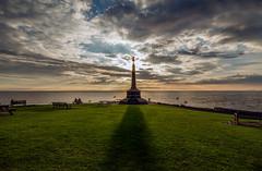 In Memoriam (andy p m) Tags: aberystwyth aberystwythwarmemorial britishseaside wales clouds coastal outdoors sea seaside shadows sky sunset warmemorial