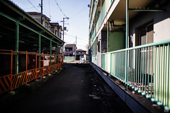 Afterglow (yasu19_67) Tags: housingcomplex sunset sunlight shadow atmosphere photooftheday alley braunautowide35mm28 35mm m42 sony7ilce7 xequals xequalscolornegativefilms digitaleffects filmlook filmlike osaka japan