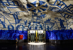Beam me up Scotty (alexring) Tags: sweden stockholm tcentralen metro station subway tunnelbana elevator startrek paintings art gallery per olof ultvedt alexring nikon d750