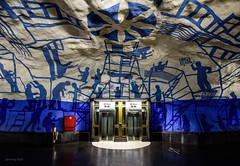 Beam me up Scotty (alexring) Tags: sweden stockholm tcentralen metro station subway tunnelbana elevator startrek paintings art gallery per olof ultvedt alexring nikon d750
