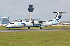 G-ECOE DHC-8Q 402 Flybe MAN 17-07-16 (PlanecrazyUK) Tags: egcc manchester man ringway manchesterairport gecoe dhc8q402 flybe 170716