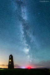 Ducket Stars - Milky Way, Waren Mill, Northumberland (Gary Woodburn) Tags: ducket dovecote waren mill budle bay northumberland night sky stars starry milky way airglow canon 6d samynag 24mm star nightscape dark airlgow