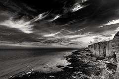 Immensity (savolio70) Tags: savolio stefanoavolio biancoenero monocromo blackandwhite falesie tretat cielo sky nuvole clouds cliff scogliera normandia normandy