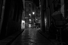 IMG_8557 (Lens a Lot) Tags: paris | 2016 carl zeiss jena flektogon 35mm f28 q1 1963 9 blades iris m42 f56 black white street photography path dark darkness light night vintage classic german germany west ddr manual fixed prime lens depth field vanishing point