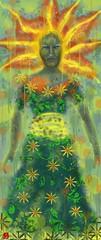 A Goddess for Today: September 11, 2016 (frnjpn) Tags: kannonsama fingerpainting ipad ipadart digitalart kali gorgon medusa melting procreate redhaired touchpainting goddess ipadpainting