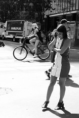 Good News... (kogh65) Tags: new york photography photo travel art 2016 nyc ny street black white leica m mono tone city outdoor life people depth field reportage young kogh candid camera focus pov picture 50mm image manhattan artist kogh65