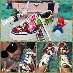 New shoes 🍄🙌 (mon monde a moi il n'y aurait que des divagations) Tags: supermariobros supermario vansnintendo supernintendo gameover jeux wii nintendo shoes sneakers vansera vans