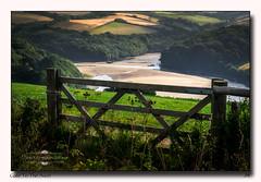 The Gate to The Avon (jeremy willcocks) Tags: riveravon devon southhams uk gate estuary sand woods trees field sun landscape colour sunny fujixt1 xf50140 jeremywillcocks wwwsouthwestscenesmeuk