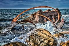 S.S. Ethie Shipwreck (-liyen-) Tags: shipwreck ssethie newfoundland grosmorne rust remains ocean water atlanticocean fujixt1 splash waves